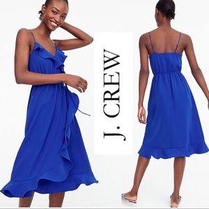 J. Crew Drapey ruffle faux-wrap Dress Size 4